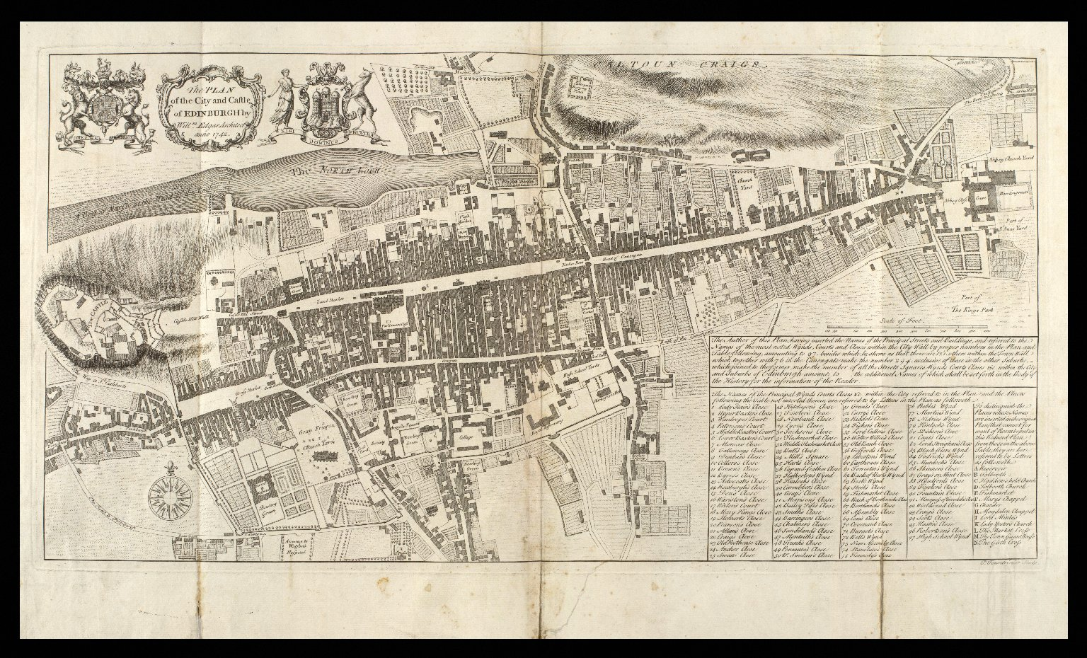 The PLAN of the City and Castle of EDINBURGH [1 of 1]