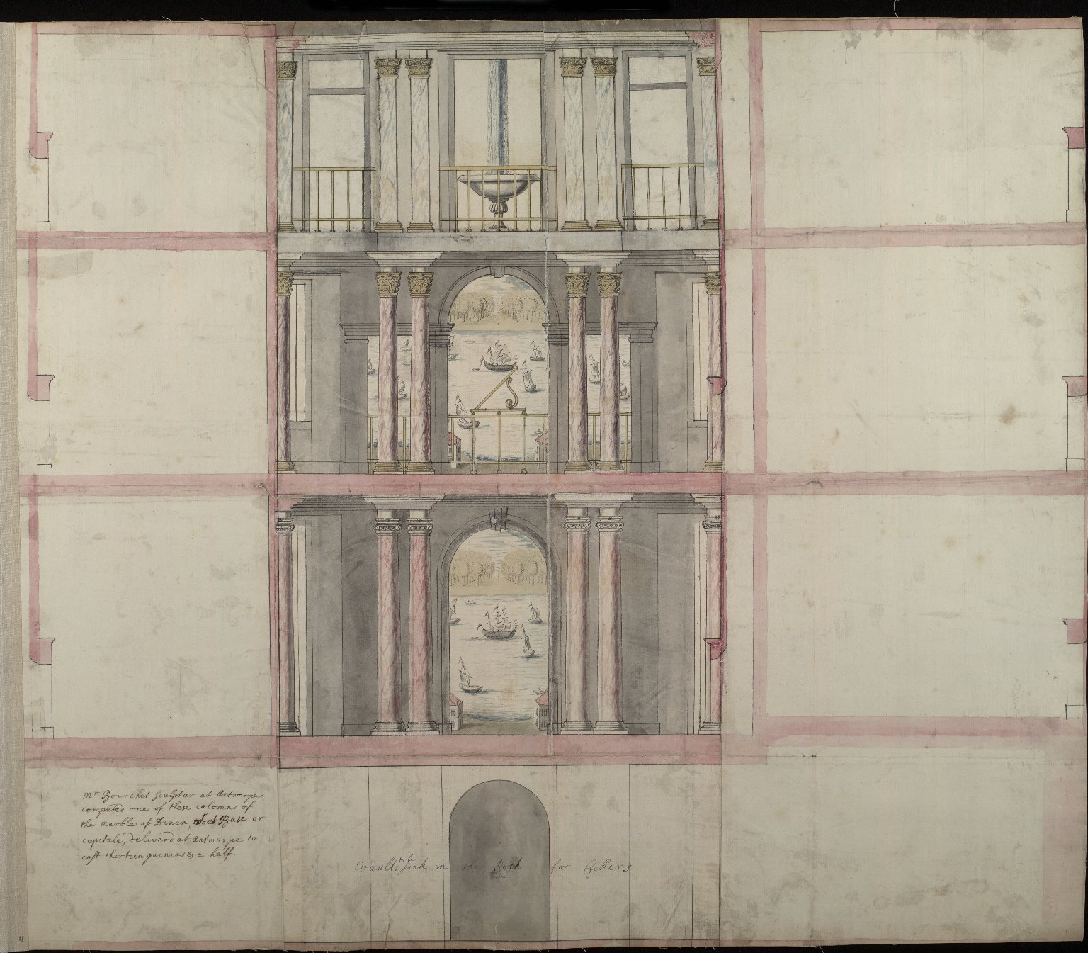 [Elevation of part of the interior of the house at Alloa] [1 of 1]