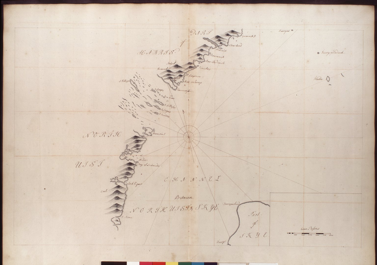 [Part of Harris & the Channel between North Uist & the Island of Skye. Mss Adair] [1 of 1]