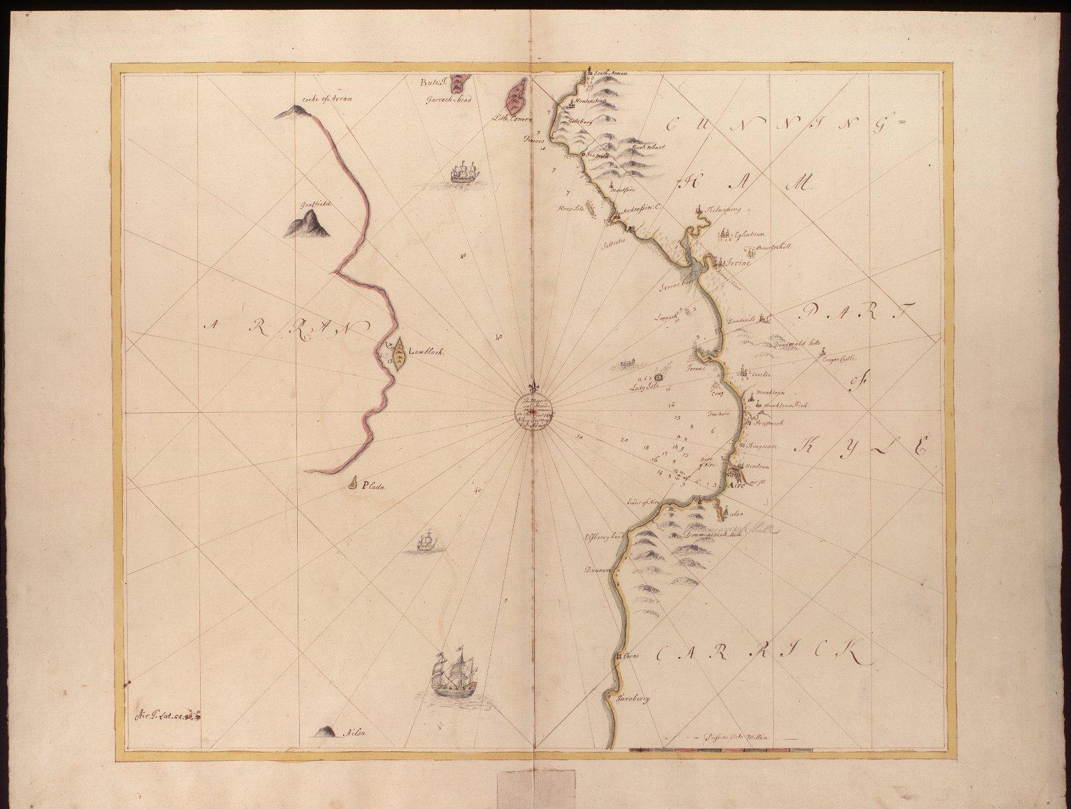 [Sea between Irvin & Air & the Isle of Arran. Adair] [1 of 1]
