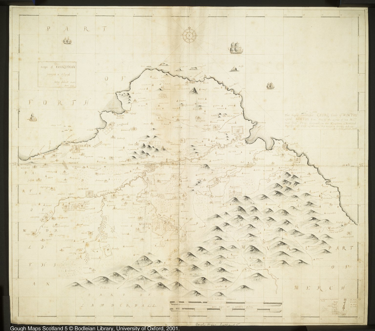 The mappe of EAST LOTHIAN [1 of 1]