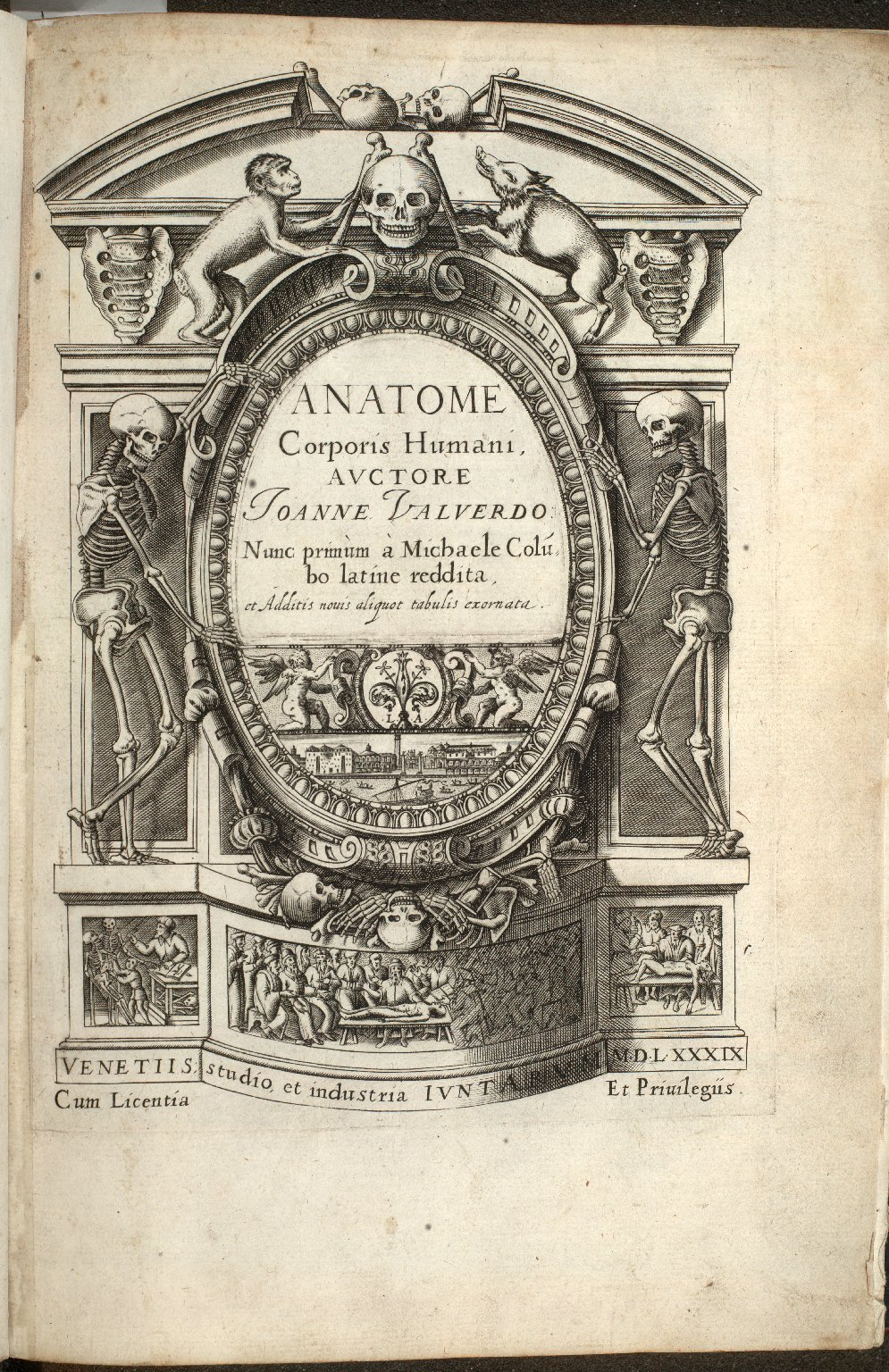 [Title Page of Anatome corporis humani]